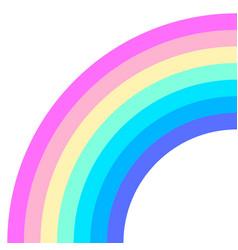 Rainbow half arc shape quarter circle pastel vector