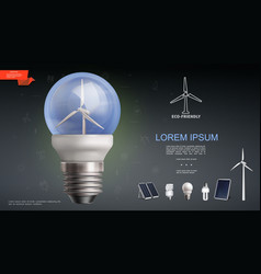 realistic modern electricity template vector image