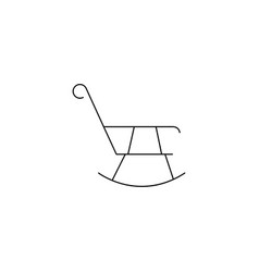 Rocking chair icon concept for design vector