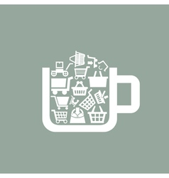 Sale a cup vector