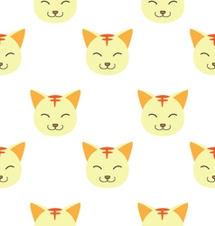Seamless pattern with face of cats vector