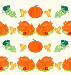 Seamless texture celebratory food turkey vector image