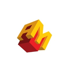 Sign the letter A and M vector image