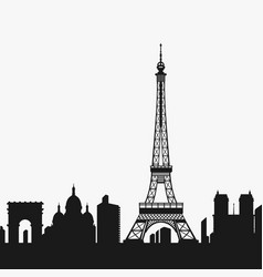 Silhouette of the eiffel tower vector