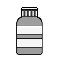 Silhouette remedy bottle with tap and label vector