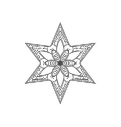 six pointed star entangle isolated design vector image