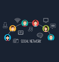 Social network community people vector