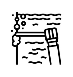 Spot welding line icon vector