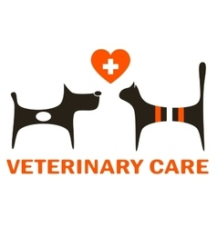symbol of veterinary care vector image