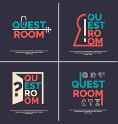 the logo for the quest room vector image