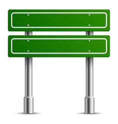 traffic green sign board road text panel vector image