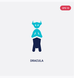 two color dracula icon from literature concept vector image