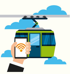 wifi service in transport terminal vector image