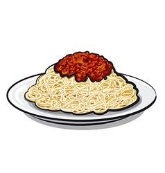 italian spaghetti vector image vector image