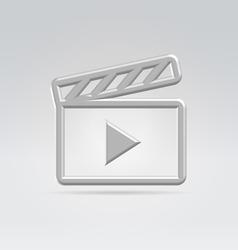 Silver video icon vector image vector image