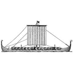 viking ship drakkar vector image vector image