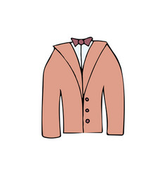 wedding jacket cartoon icon vector image