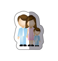 color family with their son icon vector image vector image