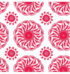 iznik tile pattern vector image vector image