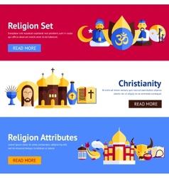 Religion Banner Set vector image