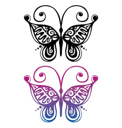 silhouette of butterfly vector image
