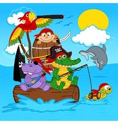 animals pirates vector image vector image