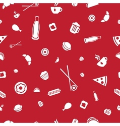 Food icons seamless pattern vector image vector image