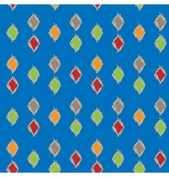 Colorful background of diamonds seamless pattern vector image