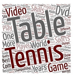 Go get that table tennis dvd text background vector