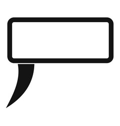 speech bubble icon simple style vector image vector image