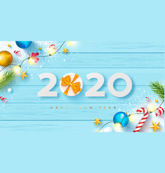 2020 happy new year bannerholiday background vector image