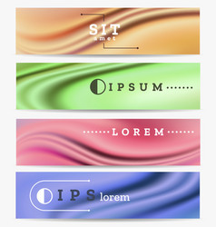 abstract industrial banners set vector image
