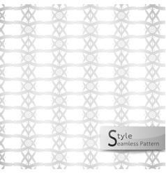 abstract seamless pattern lattice lotus ribbon vector image