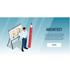 architect horizontal banner vector image