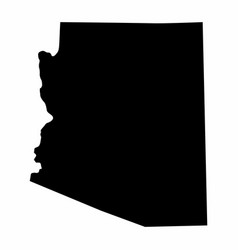 Arizona state silhouette map vector