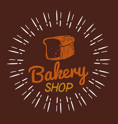 Bakery bread shop brown background vector
