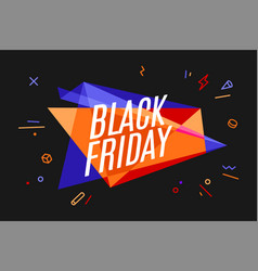 Banner with text black friday vector