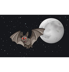 Bat in the sky vector