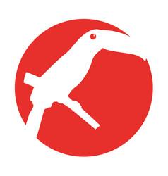 Bird exotic toucan isolated icon vector
