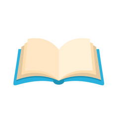 Book information icon flat style vector
