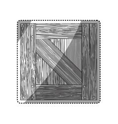 Box wooden wood planks vector