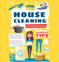brochure for house cleaning vector image