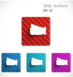 Buttons with icon of video camera vector image