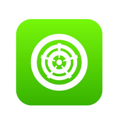 car wheel icon digital green vector image