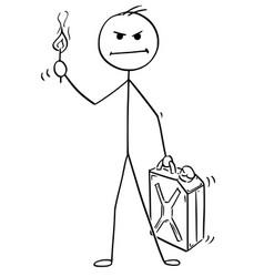 Cartoon angry man or businessman holding vector