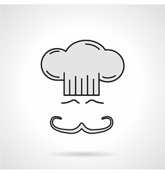 Chef face flat color icon vector image