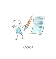 choice vector image