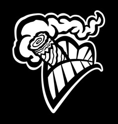 Cigar smoking mouth teeth icon vector