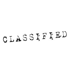 classified stamp on white vector image