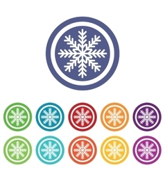 Cold signs colored set vector image